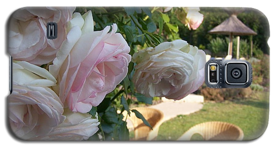 Roses Galaxy S5 Case featuring the photograph Villa Roses by Nadine Rippelmeyer