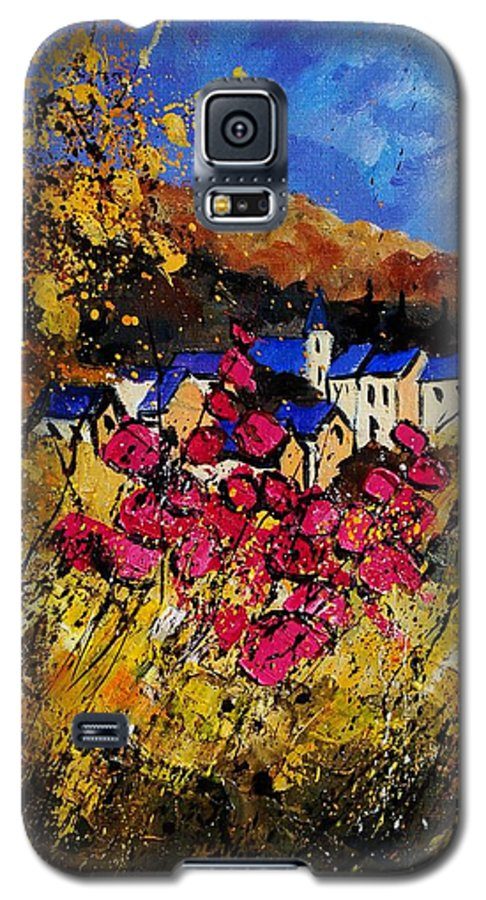 Flowers Galaxy S5 Case featuring the painting Village 450808 by Pol Ledent