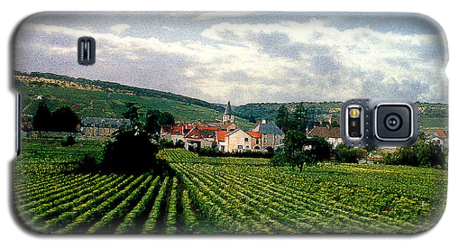 Vineyards Galaxy S5 Case featuring the photograph Village In The Vineyards Of France by Nancy Mueller