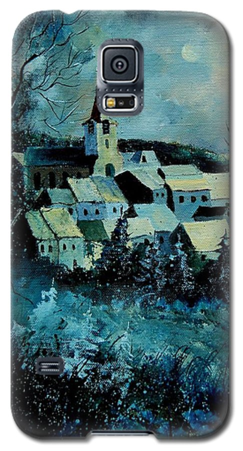 River Galaxy S5 Case featuring the painting Village In Winter by Pol Ledent