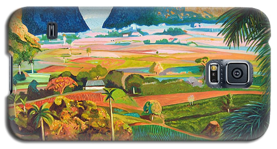 Cuban Art Galaxy S5 Case featuring the painting Vinales by Jose Manuel Abraham