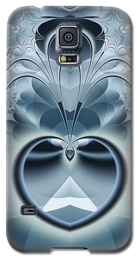 Fractal Galaxy S5 Case featuring the digital art Vision by Frederic Durville