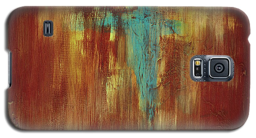 Abstract Galaxy S5 Case featuring the painting Vision Quest by Tara Moorman