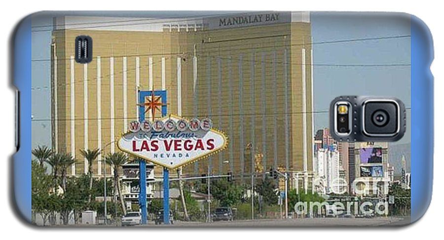 Vegas Galaxy S5 Case featuring the photograph Viva Las Vegas by Barb Montanye Meseroll