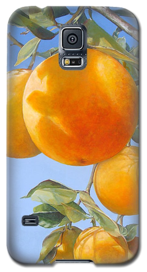 Floral Painting Galaxy S5 Case featuring the painting Vol D by Muriel Dolemieux
