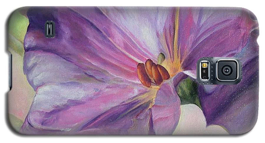 Floral Painting Galaxy S5 Case featuring the painting Volubilis by Muriel Dolemieux