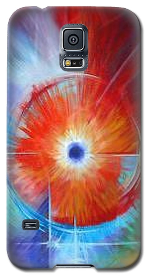 Clouds Galaxy S5 Case featuring the painting Vortex by James Christopher Hill