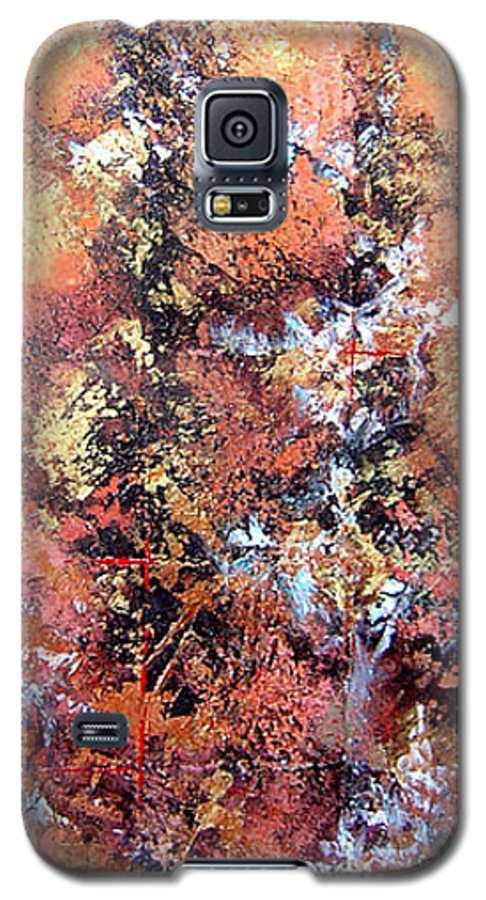Tile Galaxy S5 Case featuring the painting Wait For Sleep by Shadia Derbyshire