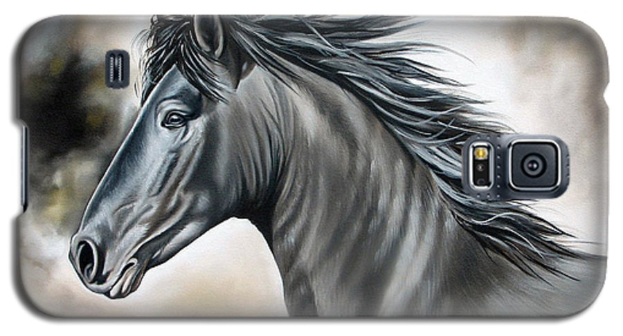 Horse Galaxy S5 Case featuring the painting Wanapun by Ilse Kleyn