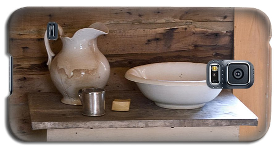 Wash Galaxy S5 Case featuring the photograph Wash Bowl Pitcher And Cup by Douglas Barnett