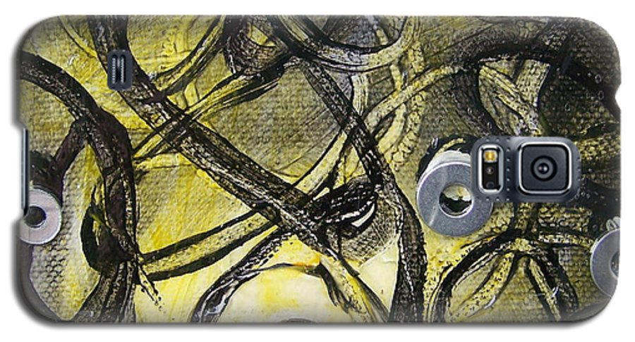 Mixed Media Galaxy S5 Case featuring the painting Washer Cells by Angela Dickerson