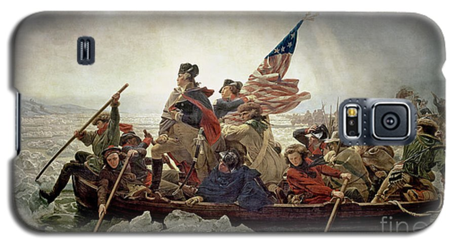 Washington Galaxy S5 Case featuring the painting Washington Crossing The Delaware River by Emanuel Gottlieb Leutze