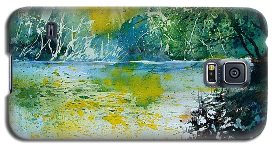 Pond Galaxy S5 Case featuring the painting Watercolor 051108 by Pol Ledent
