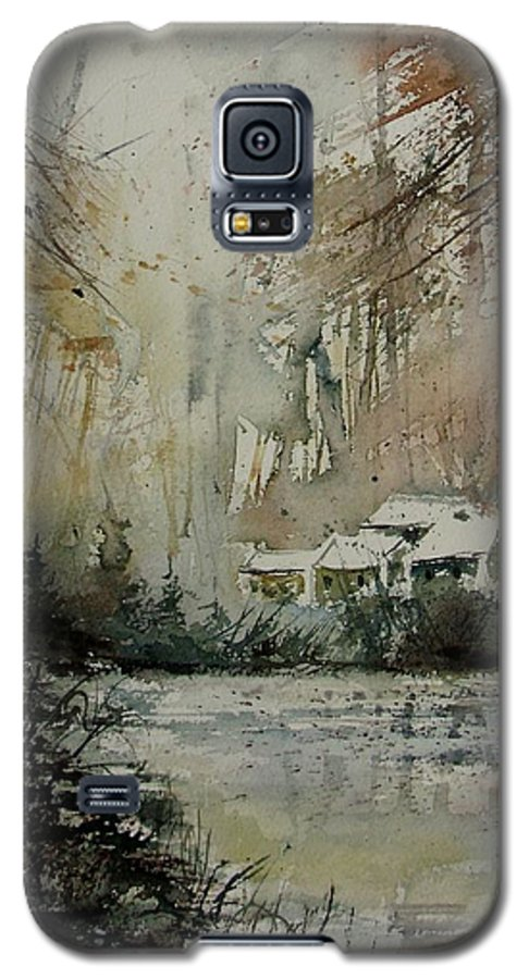 Landscape Galaxy S5 Case featuring the painting Watercolor 070608 by Pol Ledent