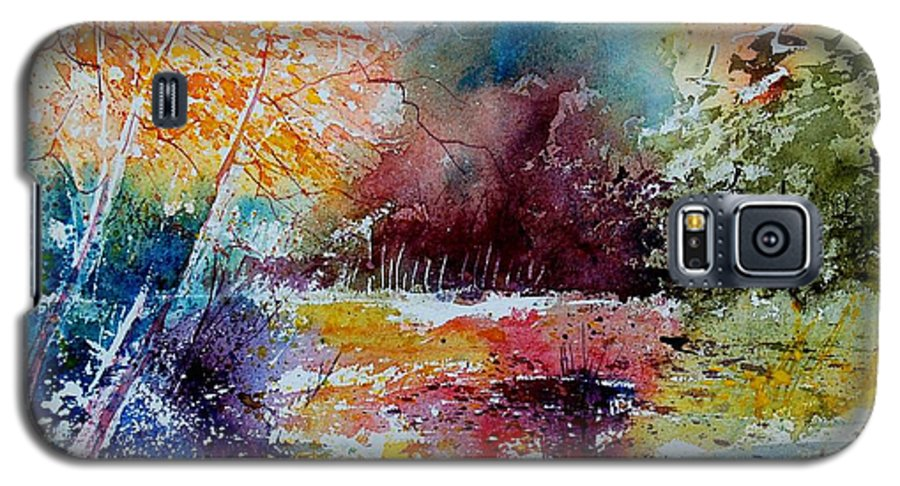 Pond Galaxy S5 Case featuring the painting Watercolor 140908 by Pol Ledent