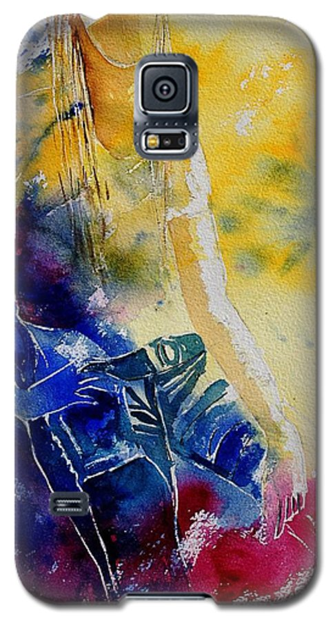Girl Nude Galaxy S5 Case featuring the painting Watercolor 21546 by Pol Ledent