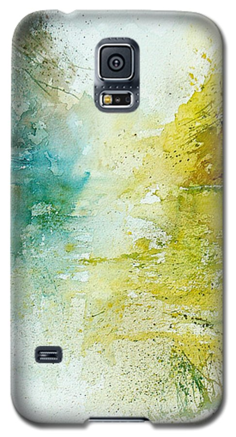 Pond Nature Landscape Galaxy S5 Case featuring the painting Watercolor 24465 by Pol Ledent