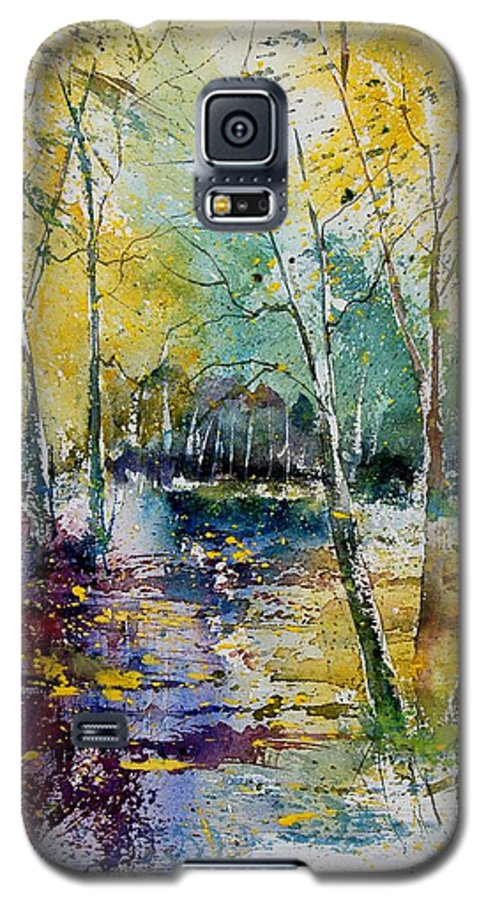 Pond Galaxy S5 Case featuring the painting Watercolor 280809 by Pol Ledent