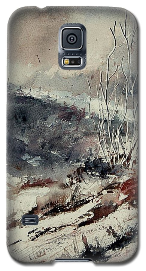 Snow Galaxy S5 Case featuring the print Watercolor 446 by Pol Ledent