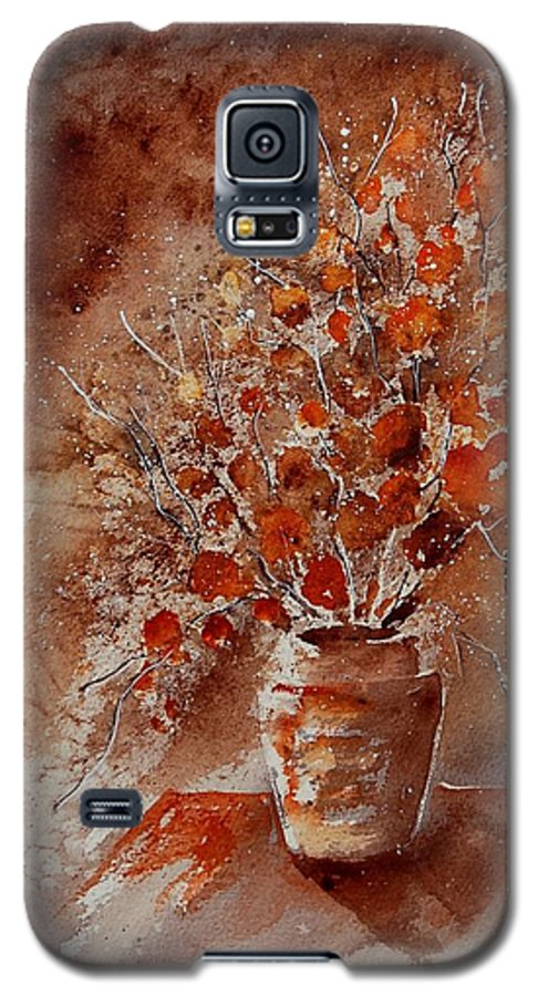 Poppies Galaxy S5 Case featuring the painting Watercolor Autumn Bunch by Pol Ledent
