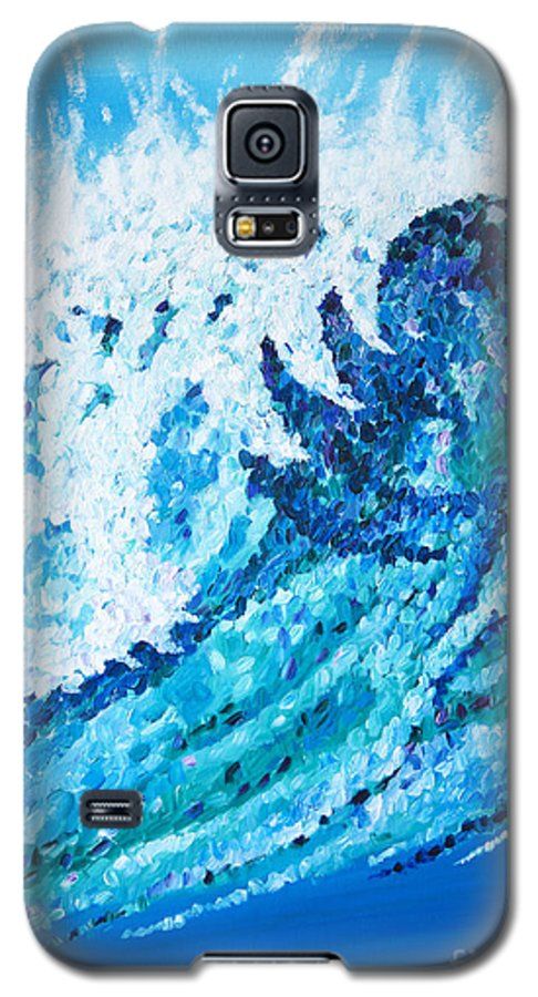 Ocean Galaxy S5 Case featuring the painting Watercolor by JoAnn DePolo