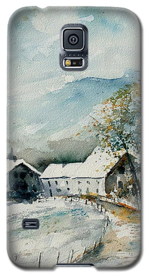River Galaxy S5 Case featuring the painting Watercolor Sechery 1207 by Pol Ledent