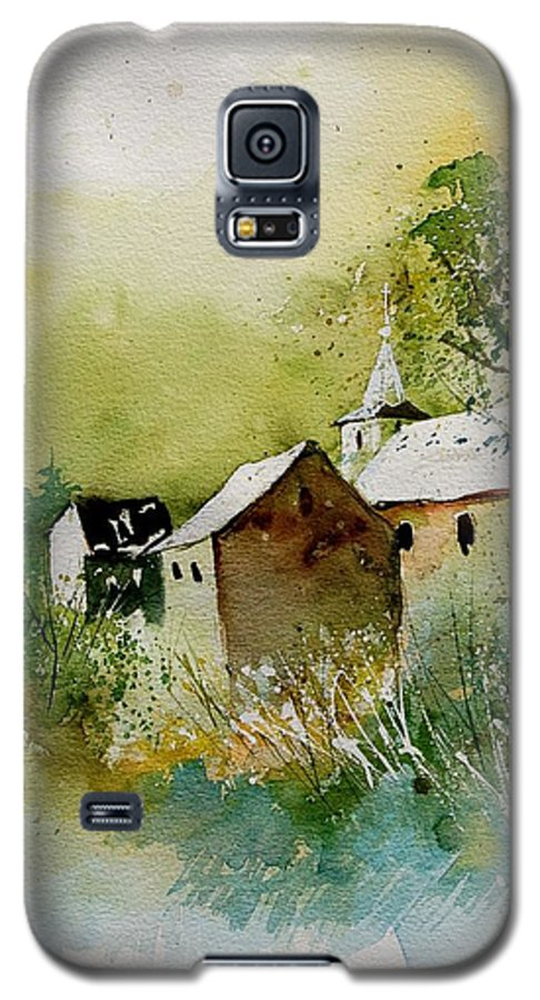 Landscape Galaxy S5 Case featuring the painting Watercolor Sosoye by Pol Ledent