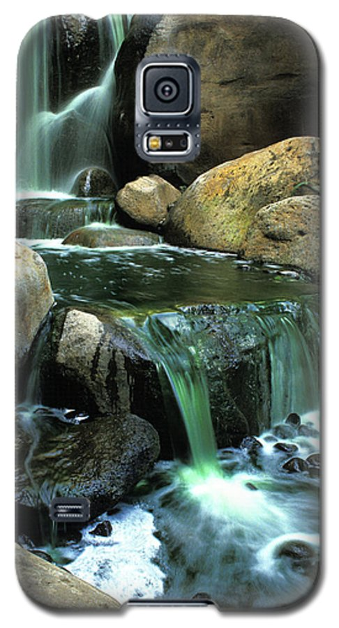 Water Galaxy S5 Case featuring the photograph Waterfall On Maui by Carl Purcell