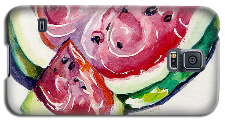 Still Life Galaxy S5 Case featuring the painting Watermelon by Jan Bennicoff