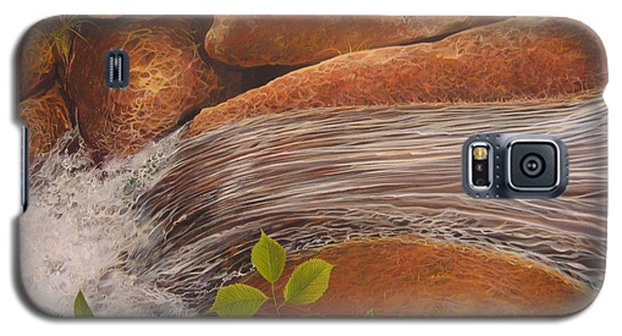 Water Galaxy S5 Case featuring the painting Water's Edge by Hunter Jay