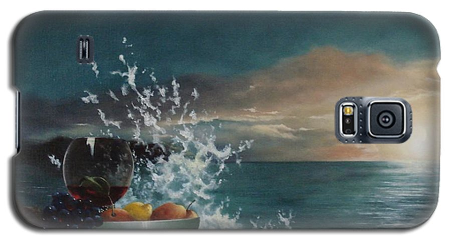 Seascape Galaxy S5 Case featuring the painting Wave by Tjerk Reijinga
