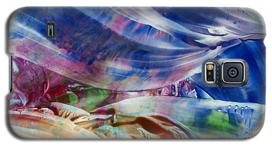 Waves Galaxy S5 Case featuring the painting Waves by Eileen Fong