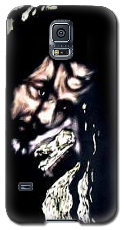 Portrait Galaxy S5 Case featuring the mixed media Wear My Crown Down by Chester Elmore