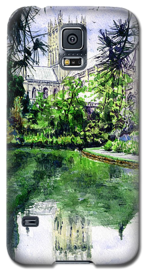 Wells Galaxy S5 Case featuring the painting Wells Cathedral by John D Benson