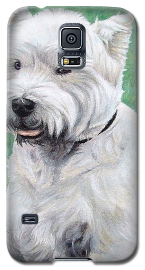Dog Galaxy S5 Case featuring the painting West Highland Terrier by Nicole Zeug