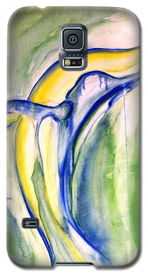 Watercolor Galaxy S5 Case featuring the painting Whale by Sheridan Furrer