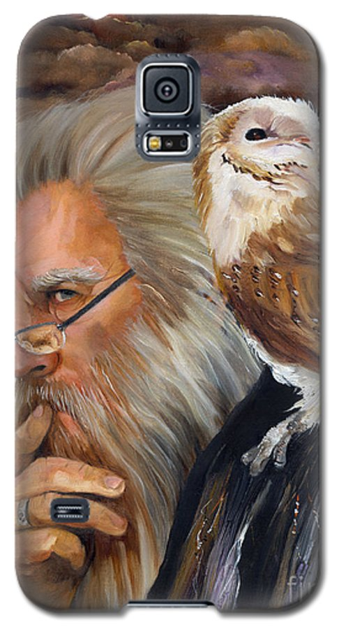 Wizard Galaxy S5 Case featuring the painting What If... by J W Baker