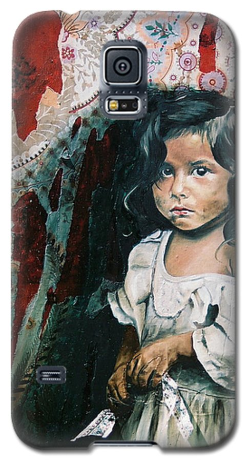 Asian Girl Galaxy S5 Case featuring the painting What Is My Worth by Teresa Carter