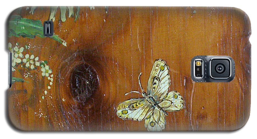 Wildflowers Galaxy S5 Case featuring the painting Wheat 'n' Wildflowers II by Phyllis Mae Richardson Fisher