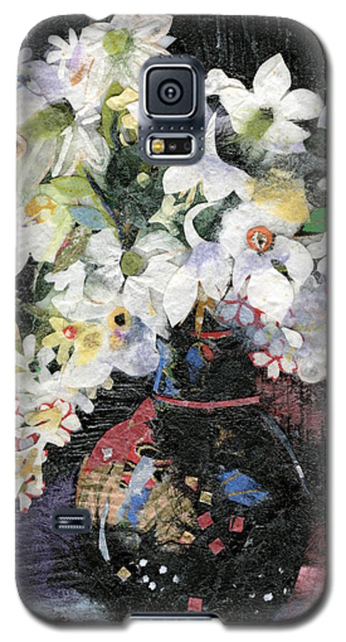 Limited Edition Prints Galaxy S5 Case featuring the painting White Celebration by Nira Schwartz