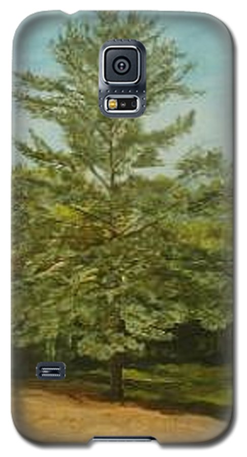 Pine Tree Galaxy S5 Case featuring the painting White Lake by Leah Tomaino