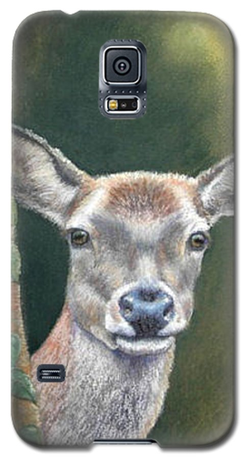 Rainforest Galaxy S5 Case featuring the painting White Tail Doe At Ancon Hill by Ceci Watson