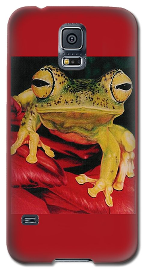Art Galaxy S5 Case featuring the drawing Who Loves Ya by Barbara Keith