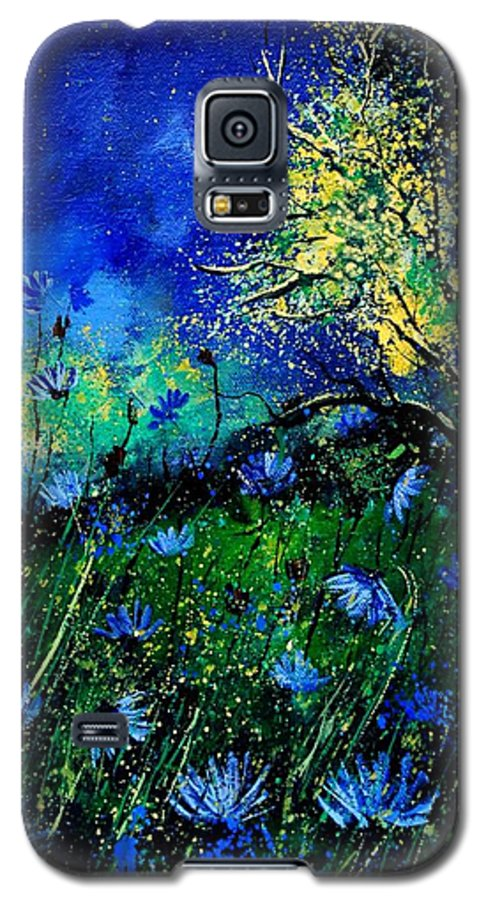 Poppies Galaxy S5 Case featuring the painting Wild Chocoree by Pol Ledent