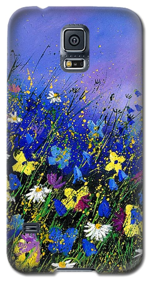 Flowers Galaxy S5 Case featuring the painting Wild Flowers 560908 by Pol Ledent