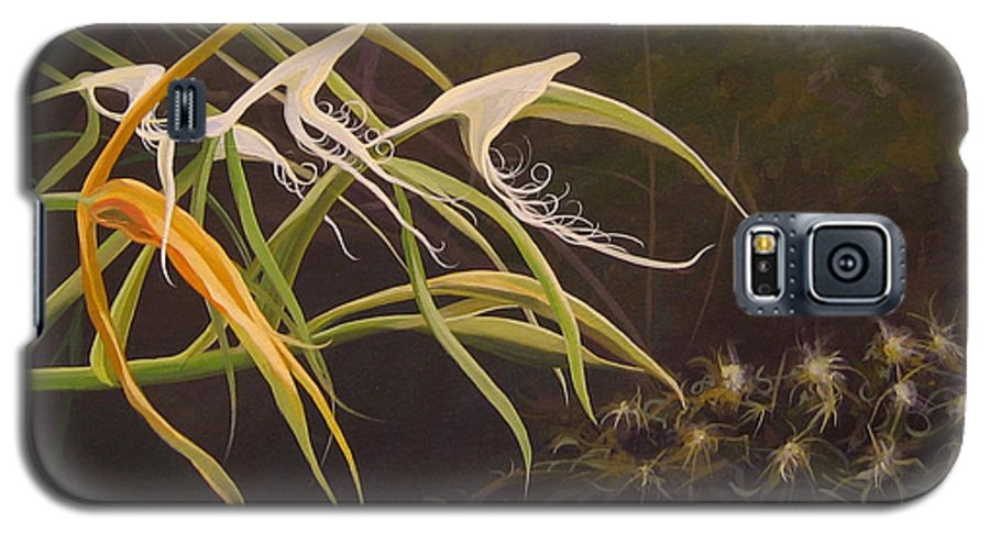 Caribbean Galaxy S5 Case featuring the painting Wild Orchids by Hunter Jay