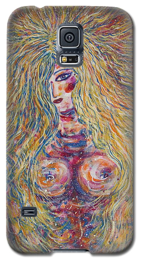 Nude Galaxy S5 Case featuring the painting Wild Passion by Natalie Holland