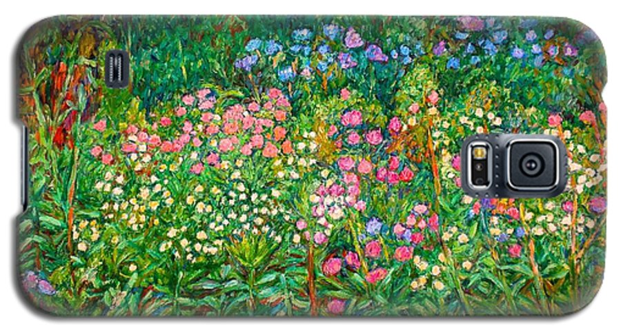 Floral Galaxy S5 Case featuring the painting Wildflowers Near Fancy Gap by Kendall Kessler