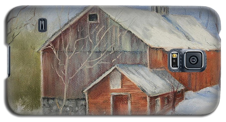 Barn Galaxy S5 Case featuring the painting Williston Barn by Carol Mueller