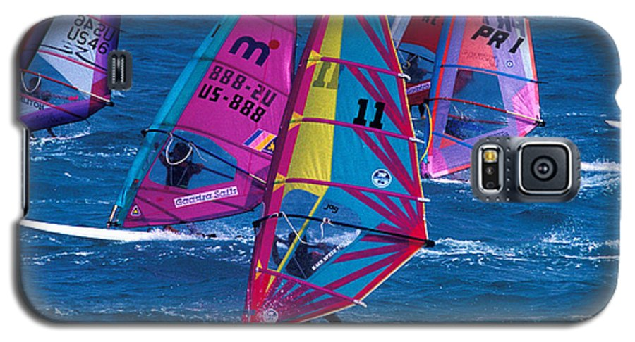 Wind Galaxy S5 Case featuring the photograph Wind Surfers In Nassau by Carl Purcell